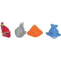 Set 4 jucarii de baie Ludi, PVC, 10 luni+, model pesti, Multicolor