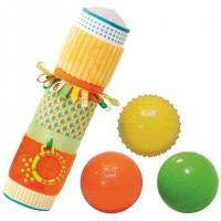Set tub cu mingii senzoriale Ludi, PVC, 40 x 10 cm, 6 luni+, Multicolor