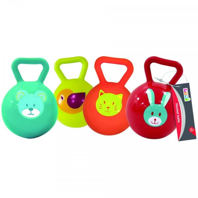 Jucarie zornaitoare minge Ludi, PVC, 10 cm, 3 luni+, Multicolor 2021 shopu.ro