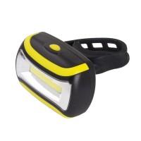 Lumina fata pentru bicicleta Turais Esperanza, USB, lumina alba, Negru/Galben