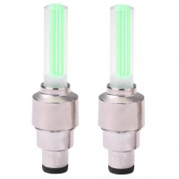 Set lumini ornamentale pentru roti masina Siegbert, LED, 3 x AG10, 2 bucati, lumina verde neon
