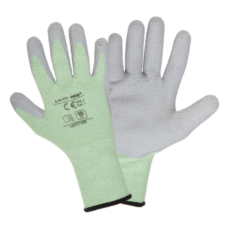 Manusi termice Lahti Pro, marimea 8, poliester/latex, mansete elastice, Gri/Verde shopu.ro