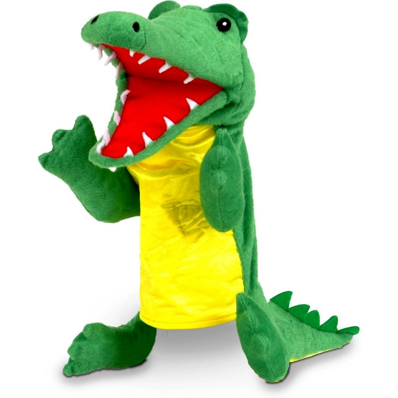 Marioneta de mana Crocodil Fiesta Crafts, 28 x 28 cm, 3 ani+, Verde