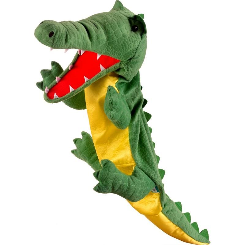 Marioneta de mana Crocodil Mare Fiesta Crafts, 28 x 28 cm, 3 ani+