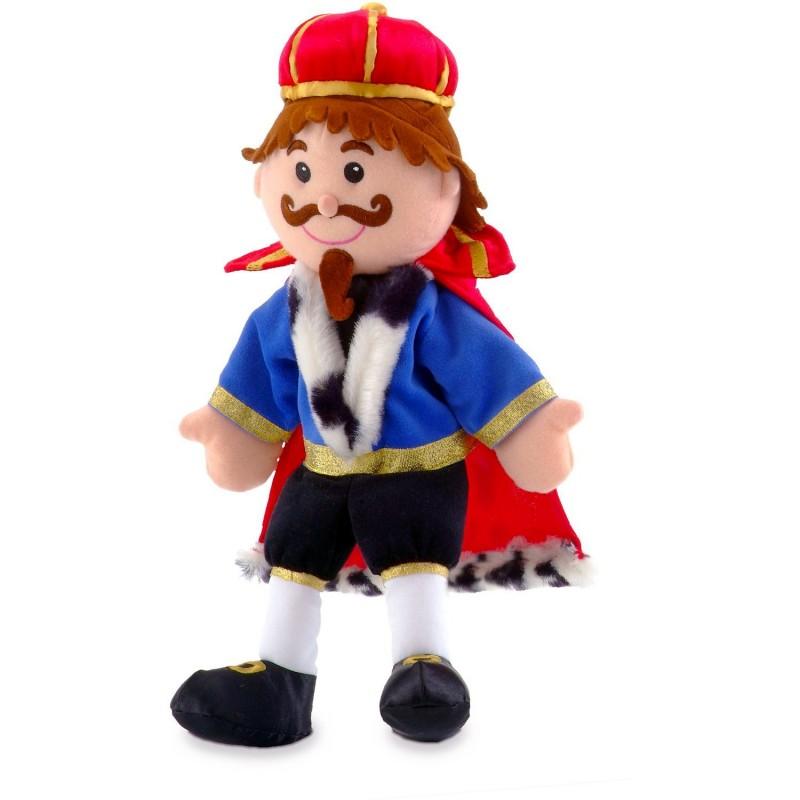 Marioneta de mana Rege Fiesta Crafts, 28 x 28 cm, 3 ani+