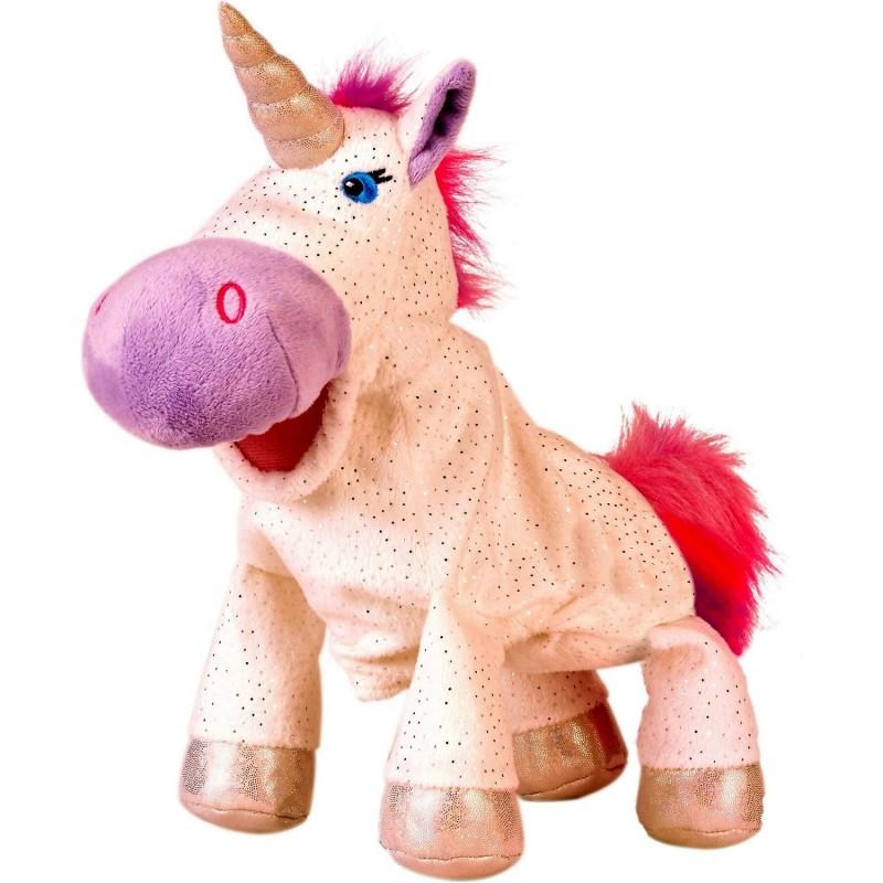 Marioneta de mana Unicorn Fiesta Crafts, 28 x 28 cm, 3 ani+, Multicolor 2021 shopu.ro