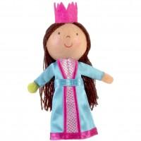Marioneta pentru deget Printesa si bobul de mazare Fiesta Crafts, 9 x 13 cm, 3 ani+
