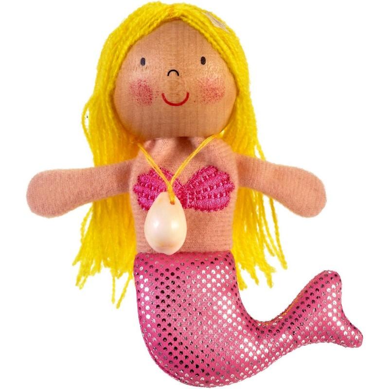 Marioneta pentru deget Sirena Fiesta Crafts, 9 x 13 cm, 3 ani+ 2021 shopu.ro