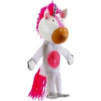 Marioneta pentru deget Unicorn Fiesta Crafts, 9 x 13 cm, 3 ani+
