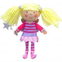 Marioneta pentru deget Zana Fiesta Crafts, 9 x 13 cm, 3 ani+