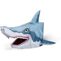Masca 3D Rechin Fiesta Crafts, carton rezistent, 16 x 28 cm, 5 ani+