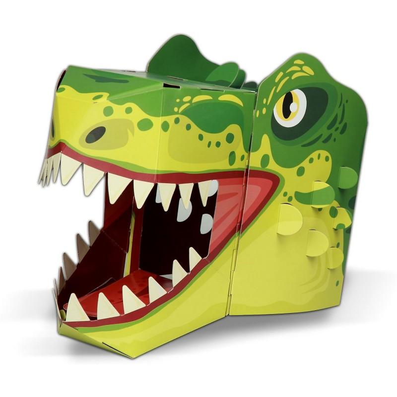 Masca 3D T-Rex Fiesta Crafts, carton rezistent, 16 x 28 cm, 5 ani+ 2021 shopu.ro