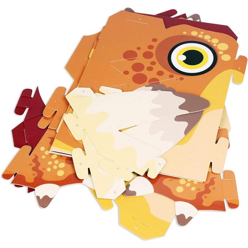 Masca 3D Triceratops Fiesta Crafts, 16 x 18 cm, carton, 5 ani+ 2021 shopu.ro