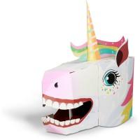 Masca 3D Unicorn Fiesta Crafts, carton rezistent, 16 x 28 cm, 5 ani+