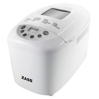 Masina de facut paine Zass, 850 W, 1500 g, 15 programe, afisaj LCD, coacere si framantare, cana gradat inclusa