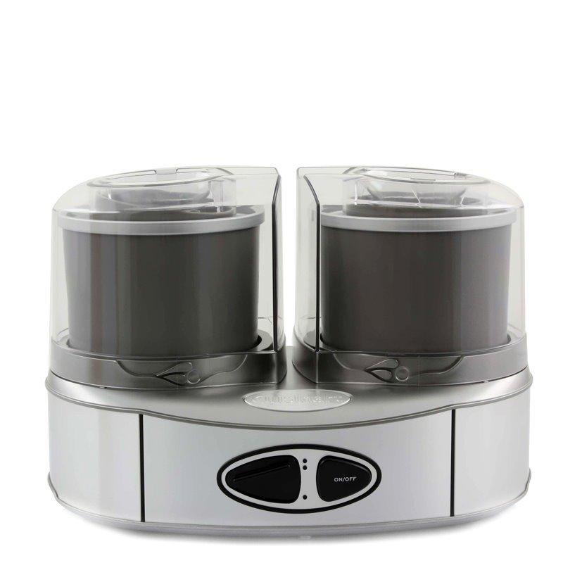 Masina de inghetata Ice Cream Duo Cuisinart, 50 W, 2 boluri, 22 X 26 X 14 cm, Aluminiu 2021 shopu.ro