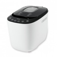 Masina de paine Heinner, 550 W, 750-900 g, touch control, 14 programe, afisaj LCD, Alb/Negru
