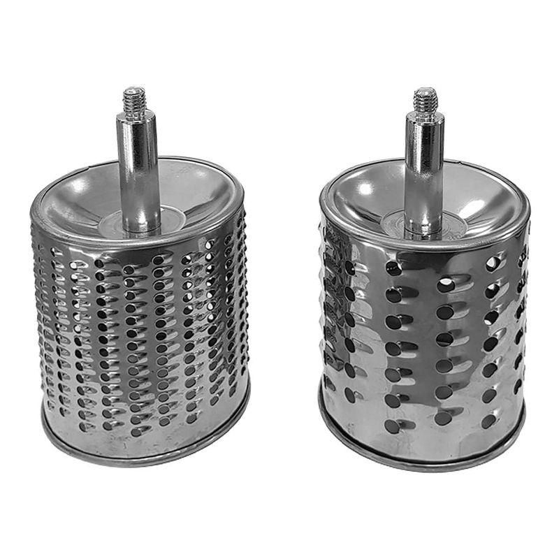 Masina de tocat nuci/branza Pem, 2 cilindri, Alb/Gri