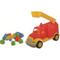 Masina de pompieri Ucar Toys, 30 cm, 36 piese constructie
