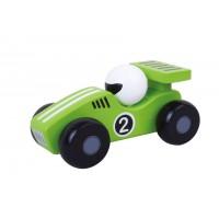 Masinuta de curse Jumini, 12.8 x 6.1 x 6.1 cm, lemn, 1 an+, Verde