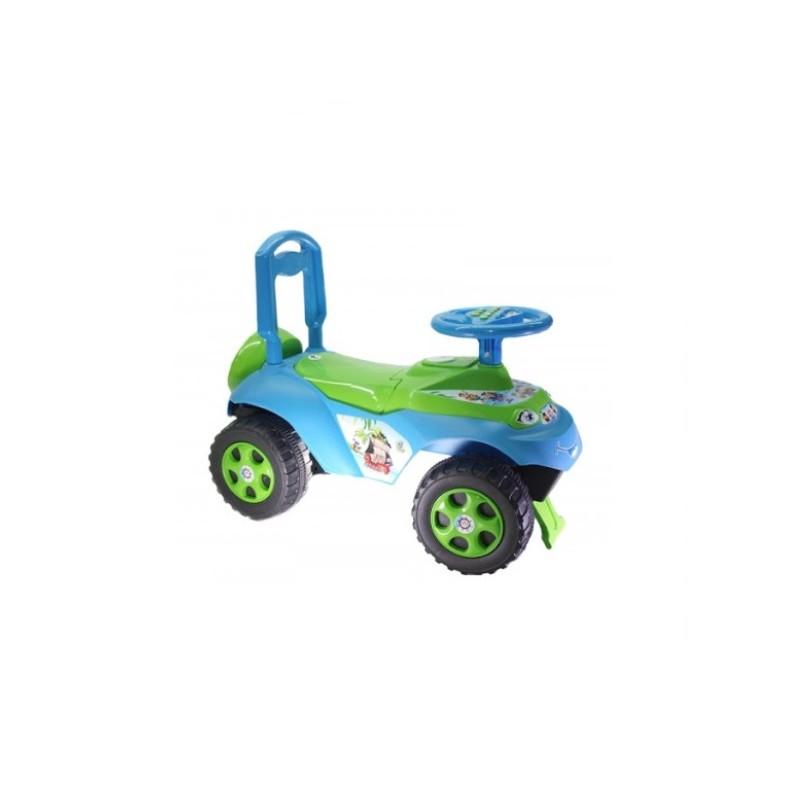 Masinuta fara pedale Music MyKids, 62 x 48 cm, plastic, maxim 30 kg, 36 luni+, Albastru/Verde 2021 shopu.ro