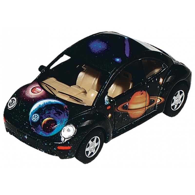 Masinuta Goki Die Cast VW New Beetle, scara 1:30, aluminiu 2021 shopu.ro