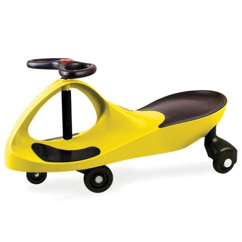 Masinuta fara pedale pentru copii Didicar, volan in forma de fluture, maxim 120 kg, 3 ani+, Galben 2021 shopu.ro