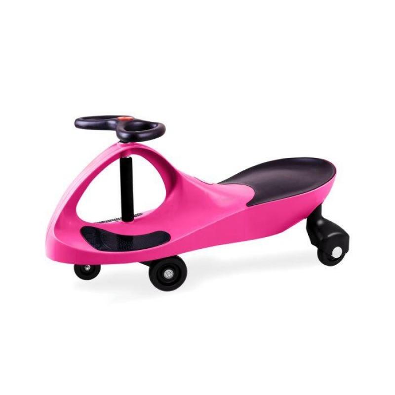 Masinuta fara pedale pentru copii Didicar, volan in forma de fluture, maxim 120 kg, 3 ani+, Roz 2021 shopu.ro