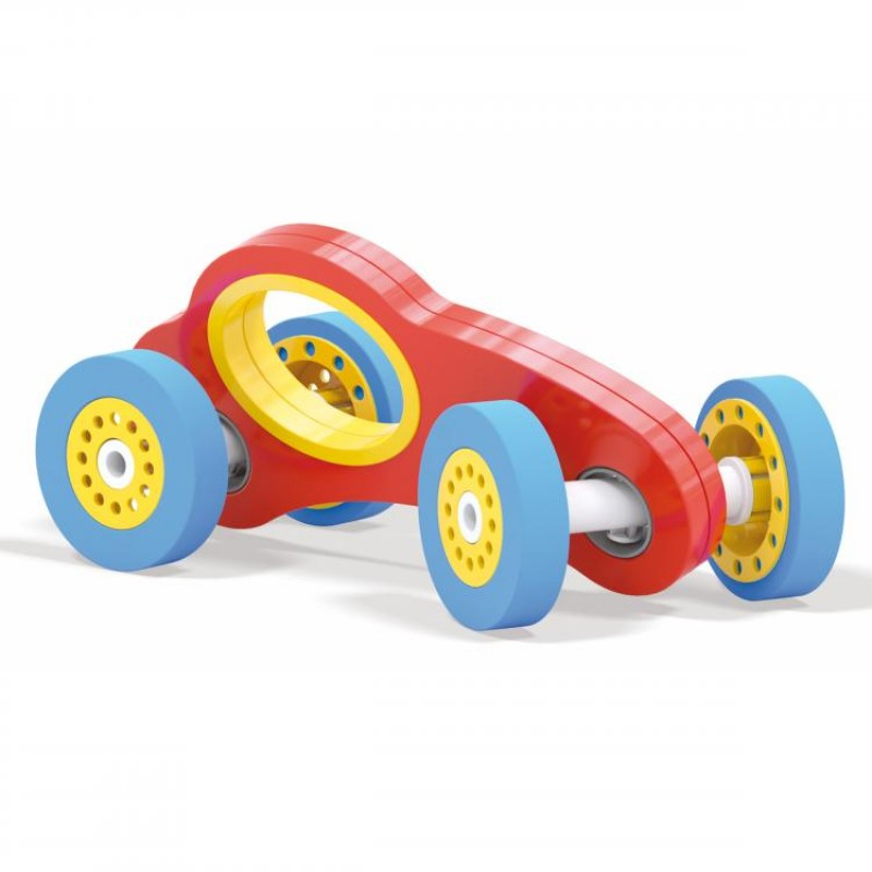 Masinuta Wroom F1 Quercetti, roti detasabile, 1-4 ani, Multicolor 2021 shopu.ro