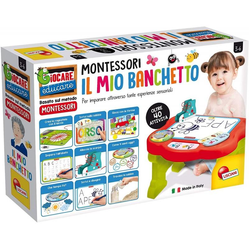 Masuta de activitati Montessori Lisciani, 58.8 x 38.8 x 12.7 cm, 3 ani+, Multicolor 2021 shopu.ro