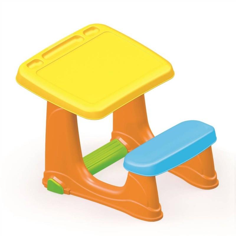 Masuta de studiu cu scaun Dolu, margini rotunjite, 72 x 49 x 54 cm 2021 shopu.ro