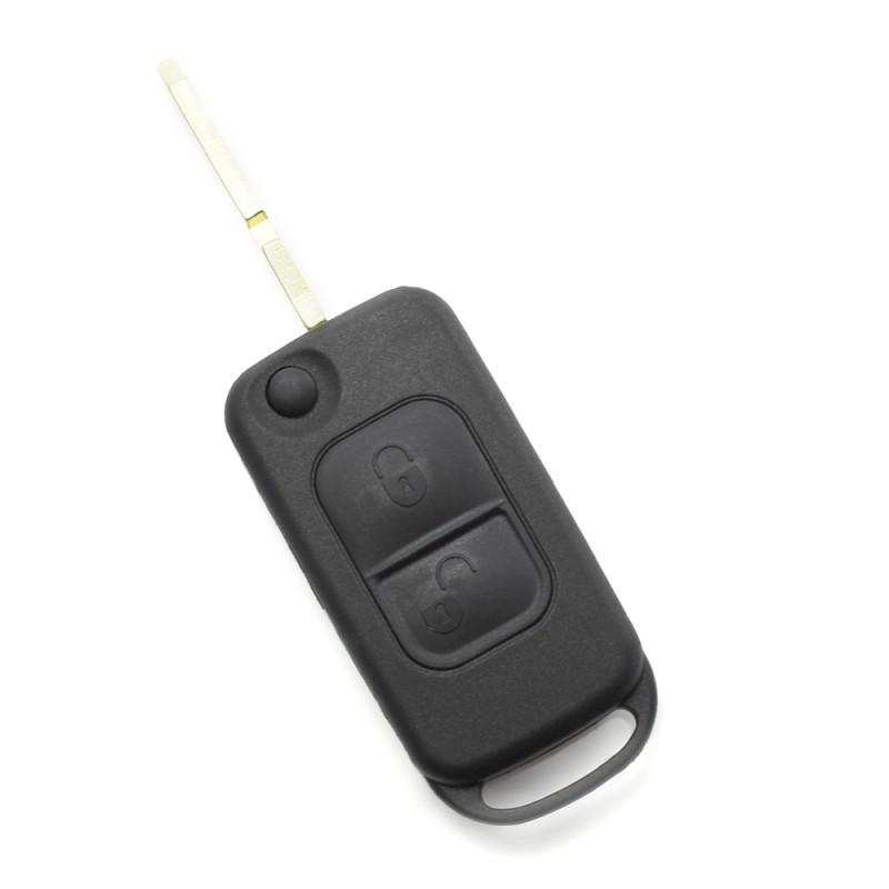 Carcasa cheie Mercedes Benz Carguard, 2 butoane, tip briceag , lama 4 piste, Negru 2021 shopu.ro
