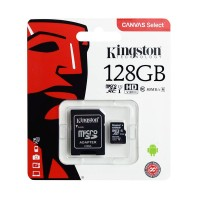 Card microSD Kingston, 128 GB, clasa 10