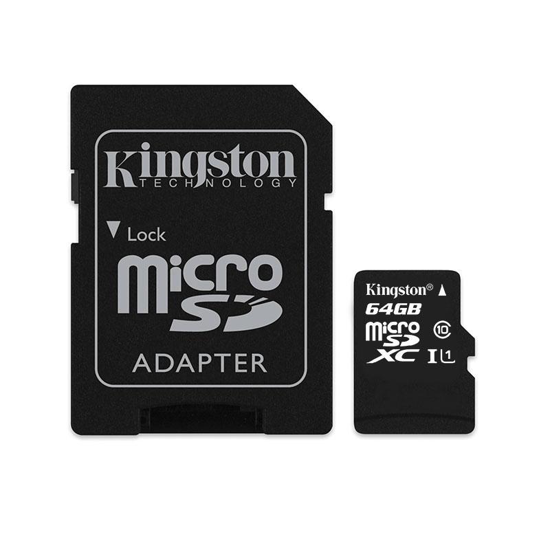 Card microSD Kingston, adaptor, 64 GB, clasa 10 2021 shopu.ro