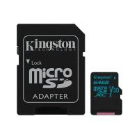 Micro SD card Kingston, 64 GB, UHS-1, 4kK