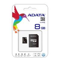 Card microSD ADATA, adaptor, 8 GB, clasa 6