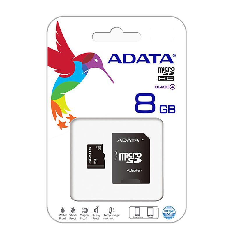 Card microSD ADATA, adaptor, 8 GB, clasa 6 2021 shopu.ro