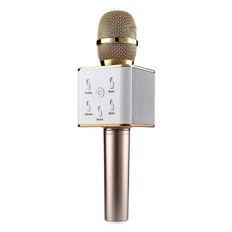 Microfon karaoke fara fir Q7, baterie incorporata 2021 shopu.ro