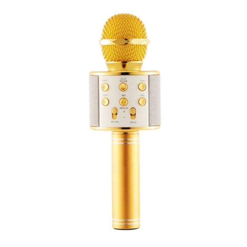 Microfon karaoke fara fir WS-858, acumulator incorporat 2021 shopu.ro