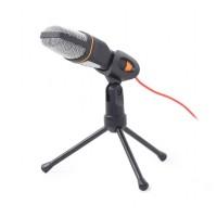 Microfon desktop cu tripod Gembird, jack 3.5 mm, 273 x 166 x 37 cm, cablu 1.2 m, Negru