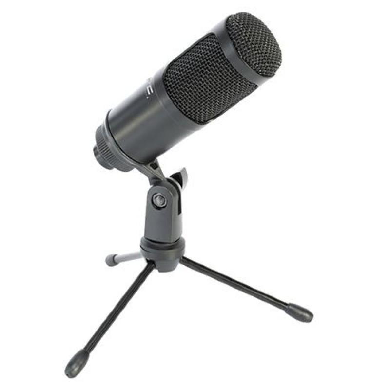 Microfon USB pentru streaming/podcast, 5 V, carcasa metal, Negru 2021 shopu.ro