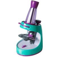 Microscop cu jurnal de activitati Educational Insights, 40 de accesorii, 8-11 ani