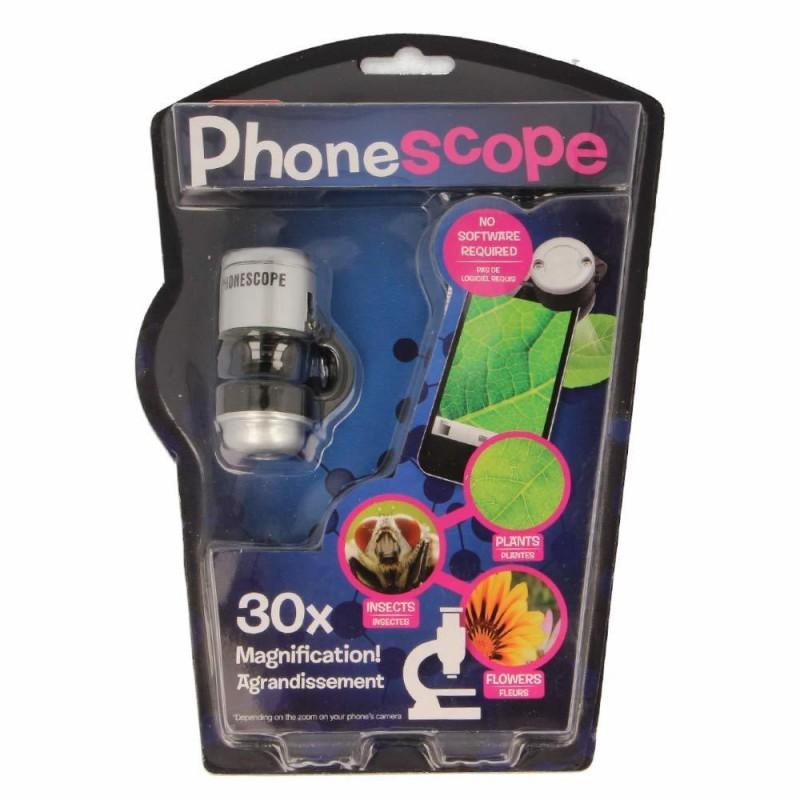 Microscop pentru telefon, marire 30x, 25 cm, 3 ani+ 2021 shopu.ro