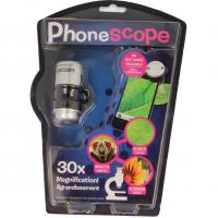 Microscop pentru telefon Magnoidz Keycraft, 25 cm, marire 30 x