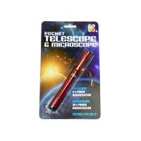 Microscop Telescop de buzunar, 16 cm, 3 ani+