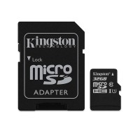 Card microSD Kingston, adaptor, 32 GB, clasa 10