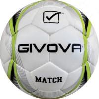 Minge fotbal Givova Match DHS, piele ecologica, marime 4, Verde/Alb