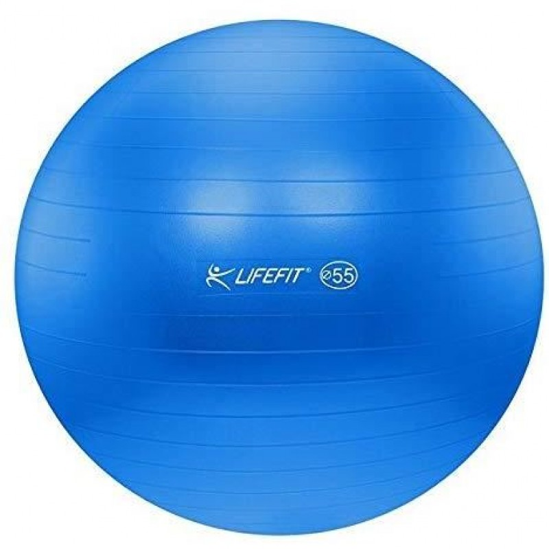 Minge pentru gimnastica DHS, 55 cm, PVC, maxim 200 kg, Albastru 2021 shopu.ro