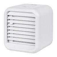 Mini aparat de aer conditionat Teesa, 8 W, 3 viteze, 7 x LED, 450 ml, USB, portabil, Alb