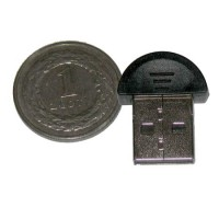 Mini bluetooth, interfata USB 2.0, raza actiune 100 m, Negru